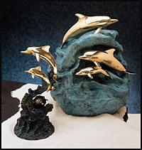 Dolphins in Cast Bronze